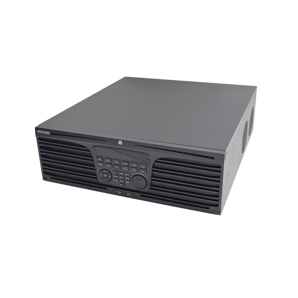 HIKVISION NVR 4K 320MBPS 64CH H264 H265 16HDD RAID 0,1,5,10 EN RED 3U MONTAJE BASTIDOR