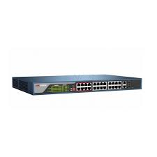 HIKVISION L2 24 PORT WEB MANAGED 100M POE 802.3AF/AT 370W 24 X 10/100 (POE) + 2 X GIGABIT SFP COMBINADO