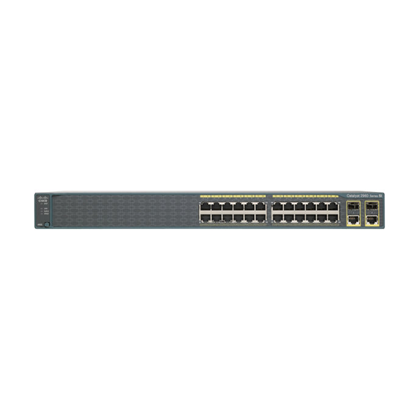 CISCO CATALYST 2960 PLUS 24 10/100 + 2 T/SFP L - 24 X 10/100 + 2 X GIGABIT SFP COMBINADO